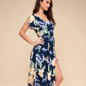 Lulu's Heart of Marigold tropical wrap dress